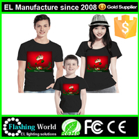2016 top design led panel el t-shirt with safe certification