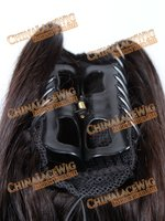 Alligator remy human clips hair extensions