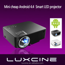 New arrival! PTP200S Android 4.4.2 HD LED small LCD Projector with Miracast WiFi Bluray beamer