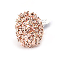 Affordable Fashion Magazine Elliptic Shape Alloy Rhinestone Women Rings SP-JZ-72630 Oval Hollow Ring Gold