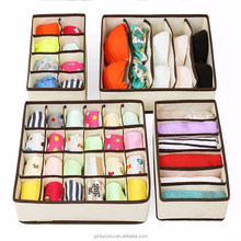 Different Sizes Multi-purpose Foldable Non-Woven Fabric Underwear Bras Shorts Ties Socks Scarves Divider Storage Boxes Organizer