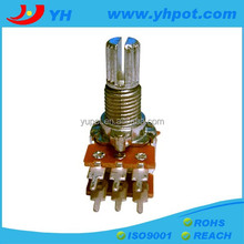 jiangsu 12mm dual gang rotary 50 ohm micro potentiometer without switch