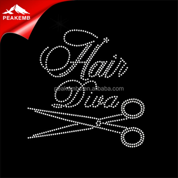 heat press hair diva rhinestone transfer stylist custom rhinestone applique