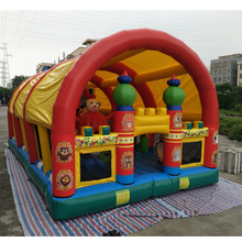 Free blower air castle inflatable jumping house,11*7*5m bouncy castle for kids