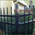 Residential PVC coated steel fence and gate designs