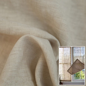100% pure thin linen curtain fabric price , linen window gauze factory direct sale