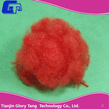 Special Flat bright red polyester staple fiber luster fiber