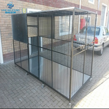 aviary bird  dove parrot welded walk in cage spayed in black