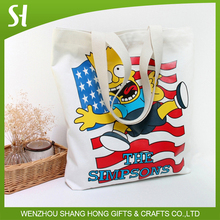 CUTE the simpsons custom logo canvas bag tote