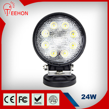 Hot products factory supplier spot flood small round 12v 5inch 24w LED worklight for truck tractor