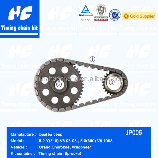 Timing chain kit used for Jeep 5.9(360) V8 1998/5.2-Y(318) V8 93-98 Grand cherokee /Wagoneer