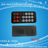 The remote control for mp3 player /TV / DVD/CAR