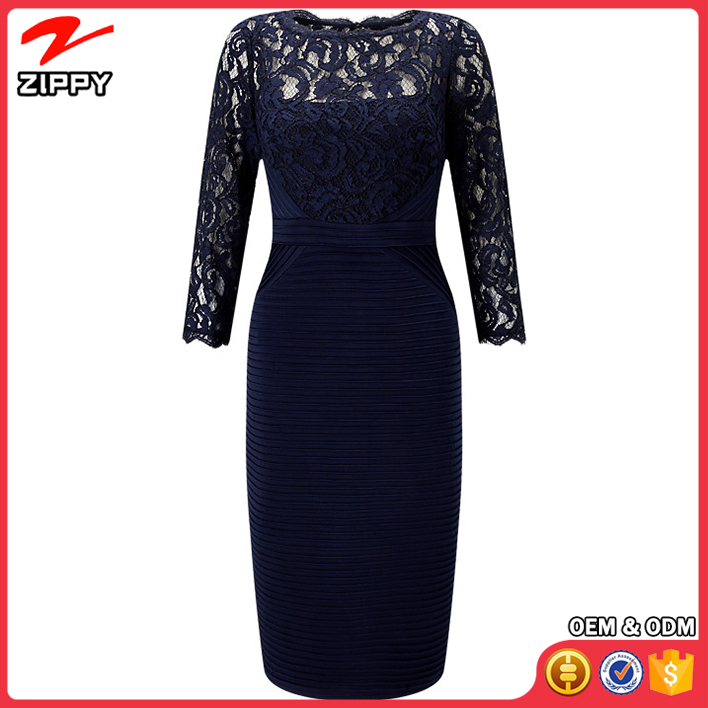Zippy Clothing Manufacturer Blue Birthday Party Dress Evening Party Dress 1