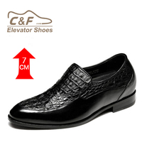custom elevator crocodile leather stripper exot high quality elevator shoes