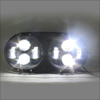 Round white custom off road motorcycle headlights for road glides Motorcycle with double headlights