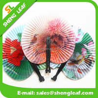 small customized logo promotion folding hand fans in plastic