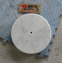 Best Quality High Polished Carrara White Marble Pieces With Center Hole