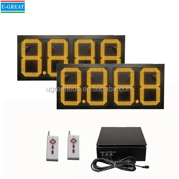 Spanish aliexpress wireless big size waterproof open signs with price oil price and litres