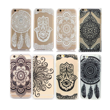 Customzie OEM UV printing Mandala Dream Catcher pattern Matte finish Hard PC phone case cover for iphone 6 7 plus
