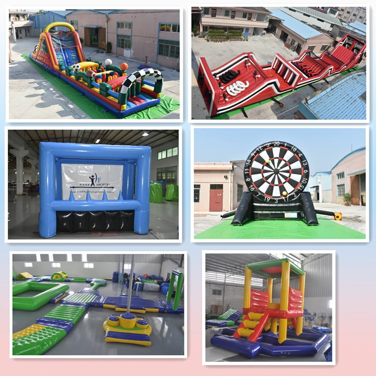 Beach party combo fin city with small slide Interactive playground inflatable  fun city