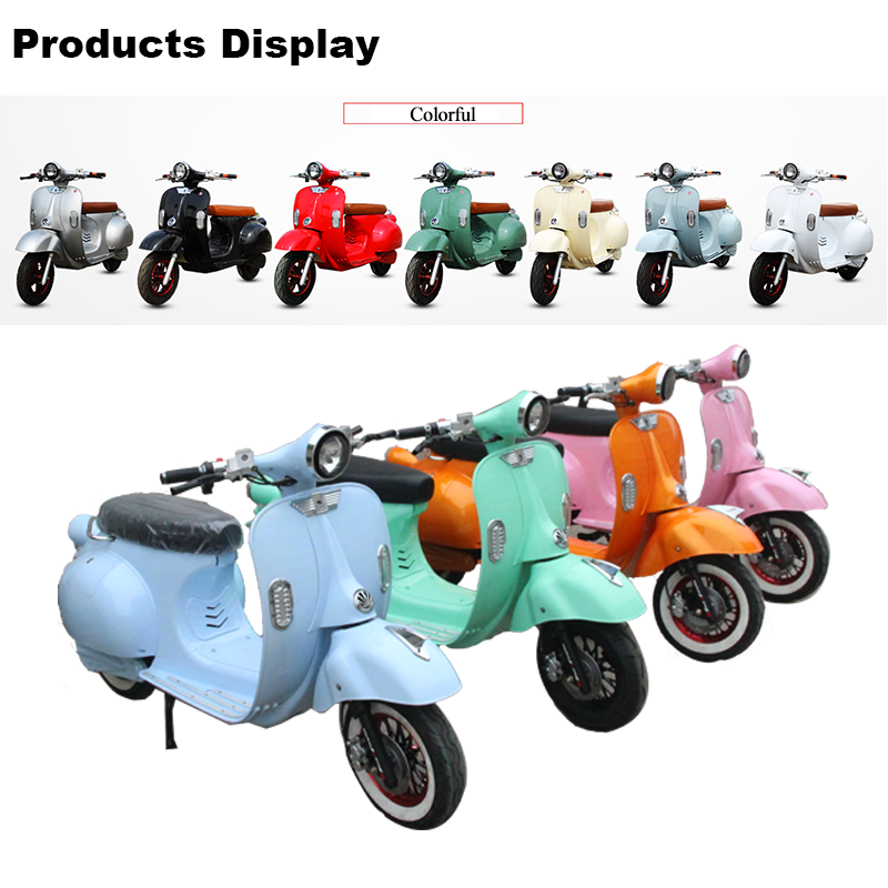 Comfortable China Electric Vespa Scooter for Shopping