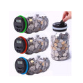 new products transparent plastic electronic money saving box