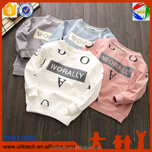 China factory long sleeve shirt/kids cartoon t-shirt/child clothes