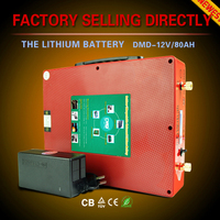 Mini lithium battery 12v 80ah motorcycle car battery for solar