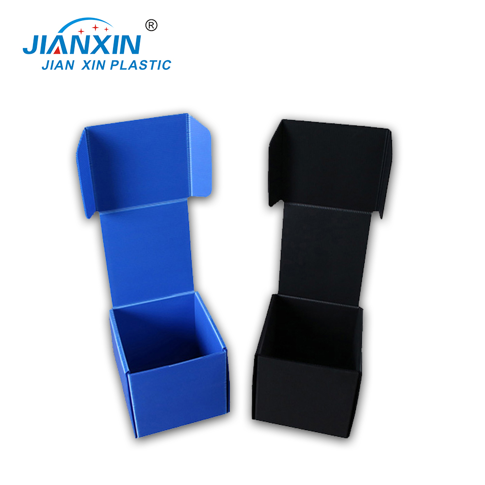 2018 Factory Made/ Recycled Plastic PP Coroplast / Corrugated Fold Box/Standard Corflute Sizes