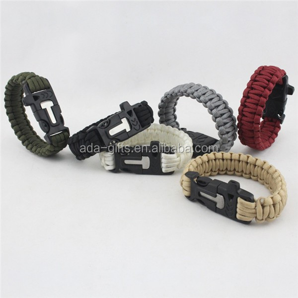 customized mix color survival para cord bracelet