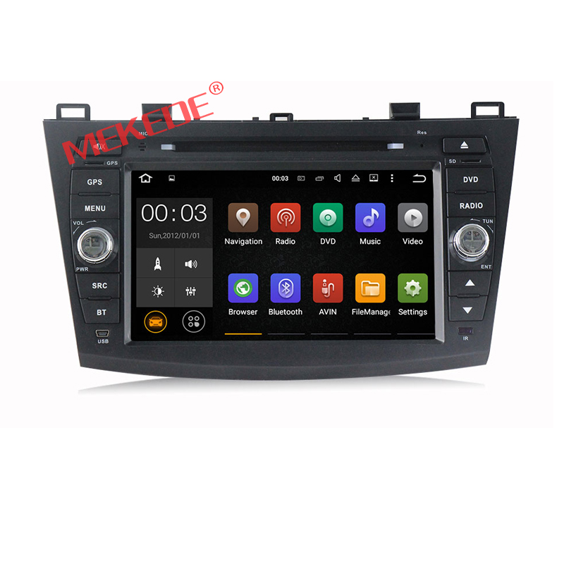 Factory price 8 inch Android 7.1 Car dvd player Autoradio for MAZDA 3 2009-2012 with4G WIFI BT DVD GPS navigator 2GRAM radio