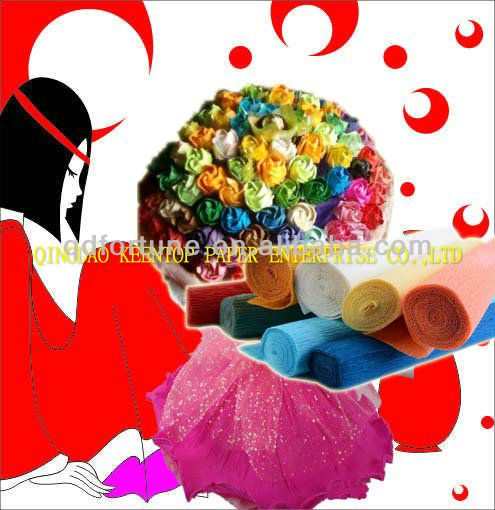 High Quality of Colorful Printed Crepe Paper,Handicraft Printed Crepe Paper Manufacturer