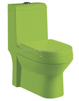 A3110 green colored bathroom western ceramic commode