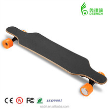 2017simple design longe electric skateboard with double motor