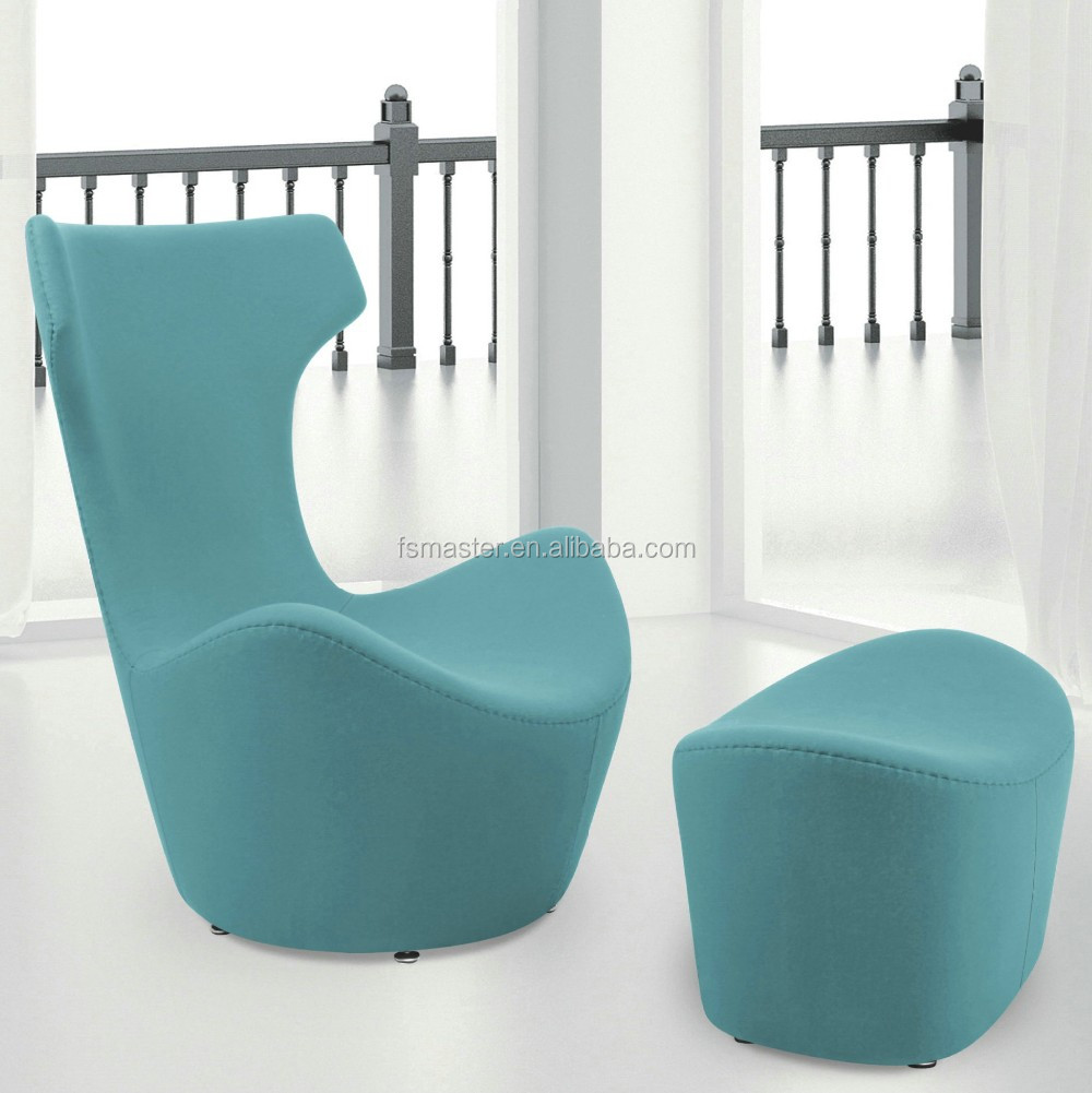replica famous designer home funiture frp wool contour lounge chair with ottoman