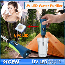 UVC LED Light Disinfection Water Treatment Portable UV Water Sterilizer
