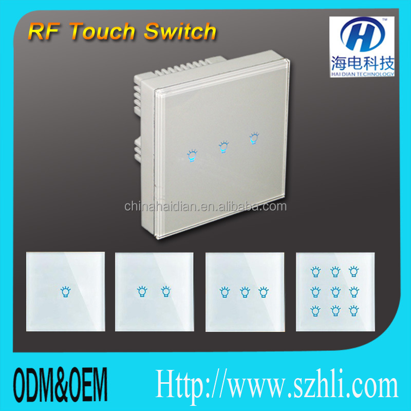 Smartphone Light Switch 2018 new smart home automation system rf315/433mhz wall switch