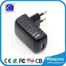 12.5w 5v 2.5a usb wall charger with UK US EU AU plug