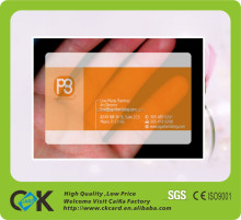 2015 hot selling clear visiting card models cards with factory price