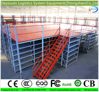 Warehouses mezzanine floor with i beam and weld parts for business industrial and warehouse racking by rack