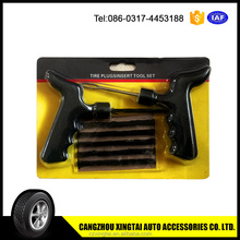 Tire repair tools, tire string repair tools, tire seals