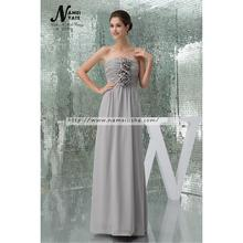Western Marriage Wedding Party Gown Floor-Length Sliver cheap china bridesmaid dresses Wholesale