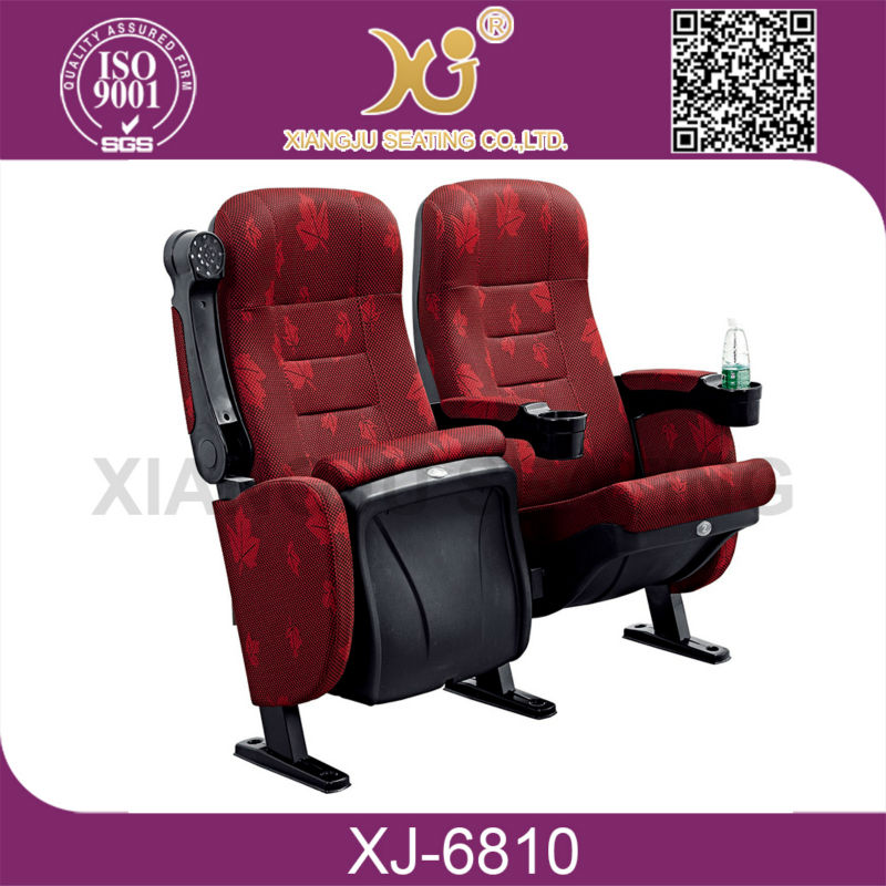 theater auditorium hall chair with seat covers and seat armrests