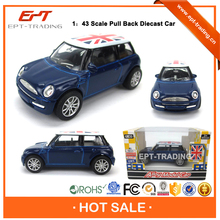 Fashion metal car toy pull back mini alloy car for 1:43 scale