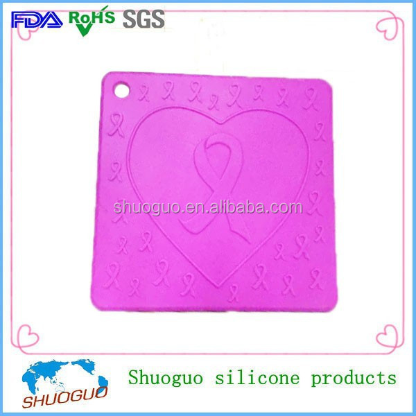 Suction silicone cup pad as kitchenware parts