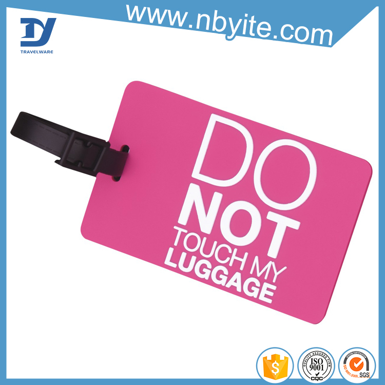 Airline Travel parcel Tracking Bag Soft PVC luggage Tag Hang tag
