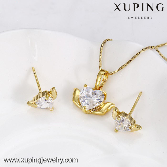 62601-xuping fashion 14k gold single stone cheap indian jewelry sets