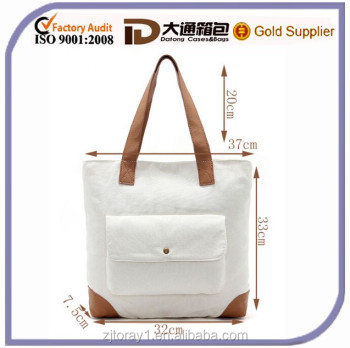 Luxury Women Fashion Canvas Summer Beach Bag Shopping Handbag