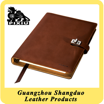 Realiable Quality Top Supplier A5 Real Leather Cover Notebook