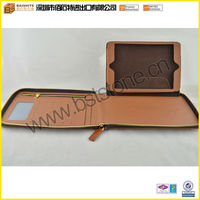 Folio Cover Leather Case For iPad, Executive Zipper Portfolio
